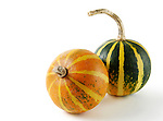Two gourds isolated on white background