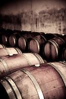 Wine cellar at Palazzone vineyard, near Orvieto, Umbria, Italy