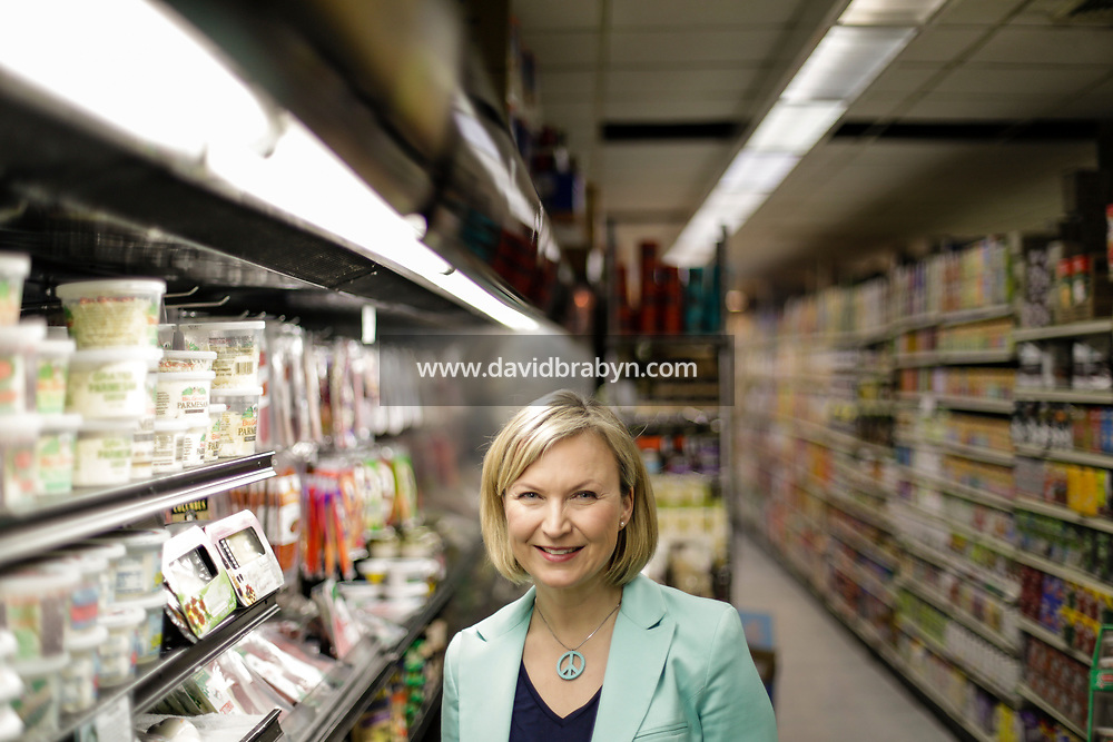 Finlandia Cheese Inc. CEO Emma Aer poses for the photographer in New York City, NY, United States, 8 March 2017. Photo credit: David Brabyn.