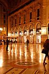 Galleria at night in Milan, Italy