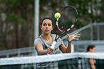 21 February 2017: ASU's Melissa Machado. The University of North Carolina Tar Heels hosted the Appalachian State University Mountaineers at the Cone-Kenfield Tennis Center in Chapel Hill, North Carolina in a Women's College Tennis match. North Carolina won the match 6-1.