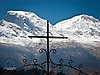 Mountains and Cross