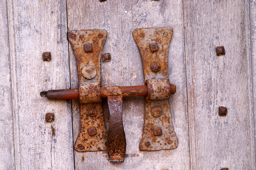 an old hasp lock chateau de rully burgundy france