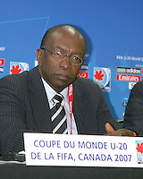 FIFA vice-president Jack Warner at pre game news conference. Republic of Korea and the USA tied 1-1 at the FIFA U20 World Cup at the Olympic stadium in Montreal, Canada on June 30, 2007.