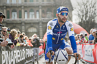 Fernando Gaviria (COL/Etixx - QuickStep) on his way to the sign-in<br /> <br /> race start in Milano for the 108th Milano - Sanremo 2017