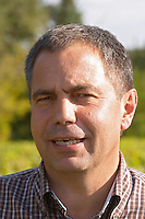 Luc Peyronnet, vineyard manager. Chateau Phelan-Segur, Saint Estephe, Medoc, Bordeaux, France