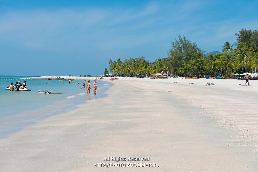 Langkawi Cenang beach in the morning, Malaysia