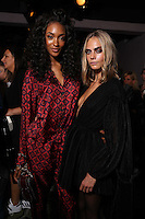 BURBERRY<br /> JOURDAN DUNN AND CARA DELEVINGNE<br /> London Fashion Week, Ready to Wear, FW17<br /> on September 19, 2016<br /> CAP/GOL<br /> &copy;GOL/Capital Pictures /MediaPunch ***NORTH AND SOUTH AMERICAS ONLY***