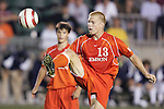 9 November 2005: . Clemson University defeated the University of Virginia 4-1 at SAS Stadium in Cary, North Carolina in a quarterfinal of the 2005 ACC Men's Soccer Championship.