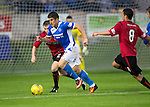Brechin City v St Johnstone&hellip;26.07.16  Glebe Park, Brechin. Betfred Cup<br />Michael Coulson is closed down by Chris O&rsquo;Neil and James Dale<br />Picture by Graeme Hart.<br />Copyright Perthshire Picture Agency<br />Tel: 01738 623350  Mobile: 07990 594431