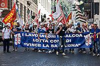 Manifestazione lavoratori  Alcoa