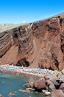Cliff over Red beach in Akrotiri, Thira (Santorini)