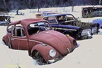 EQ03-004z  Oxidation - rust on old car