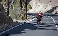 Team Trek-Segafredo winter training camp with Alberto Contador descending the Tiede Volcano in Tenerife<br /> <br /> january 2017, Tenerife/Spain