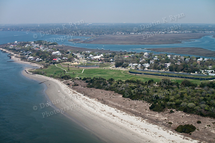 Historic Fort Moultrie On Sullivans Island And The Charleston Harbor Aerial Photography Dustin