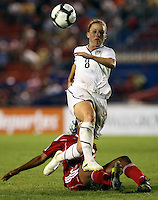 Amy Rodriguez of United States. The US Women's National Team defeated Haiti 5-0 during the CONCACAF Women's World Cup Qualifying tournament at Estadio Quintana Roo in Cancun, Mexico on October 28th, 2010.