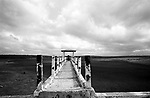 Açude seco no nordeste brasileiro - Seca no nordeste / 1999..Dry dam in the Brazilian northeast - it Dries in the northeast / 1999.