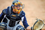 17 June 2008: Oneonta Tigers catcher Joe Bowen in action against the Vermont Lake Monsters at historic Centennial Field in Burlington, Vermont. The Lake Monsters defeated the Tigers 6-4 in the first game of their three-game season opening series in Vermont...Mandatory Credit: Ed Wolfstein Photo