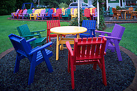 Upper LaHave, NS, Nova Scotia, Canada - Colorful Painted Wood Patio Furniture and Adirondack Chairs for Sale, made / manufactured by Local Chair Maker