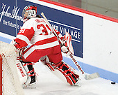 Freshman Braly Hiller (BU - 31) took over for the third period making 5 saves. - The Boston University Terriers defeated the visiting University of Windsor Lancers 4-1 in a Saturday afternoon, September 25, 2010, exhibition game at Walter Brown Arena in Boston, MA.