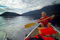 Wells Gray Provincial Park, British Columbia, Canada, August 2006. Murtle lake can be crossed by Canoe and has several campsites. Trekking the backcountry of Wells Gray requires expert outdoor skills or a good guide, as one will enter a wilderness area with mountains, lakes and forests. Photo by Frits Meyst/Adventure4ever.com