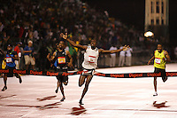 Usain Bolt setting the 100m World Record in a time of 9.72sec. at the Reebok Grand Prix meet at Icahn Stadium New York City on Saturday, May 31, 2008. Photo by Errol Anderson, The Sporting Image.