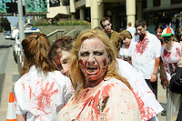 The inaugural &quot;Join the Horde&quot; Zombie Walk in Perth, Western Australia, Oct 12, 2013.<br /> The Zombie Walk raised funds for The Brain Foundation, a nationally registered charity funding world-class research across Australia into neurological disorders, brain disease and brain injuries.