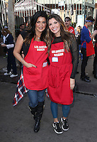Los Angeles, CA - NOVEMBER 23: Jennifer Jimenez, Ali Landry, At Los Angeles Mission Thanksgiving Meal For The Homeless At Los Angeles Mission, California on November 23, 2016. Credit: Faye Sadou/MediaPunch