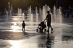 Fountains, Downtown Montreal, Quebec, Canada
