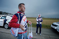 Kuurne-Brussel-Kuurne 2012<br /> carer Raoul Saren waiting for the boys