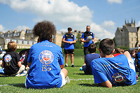 A general view of Bath Rugby Family Festival t-shirts. Bath Rugby Family Festival of Rugby, on August 8, 2015 at the Recreation Ground in Bath, England. Photo by: Patrick Khachfe / Onside Images