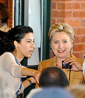 Huma Abedin & Hilary Clinton 2008 Presidential Campaign By Jonathan Green