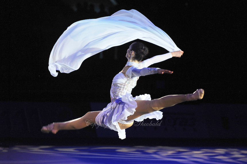"""Anna Bessonova of Ukraine performs gala during opening ceremony at 2011 World Cup Kiev, """"Deriugina Cup"""" in Kiev, Ukraine on May 07, 2011."""