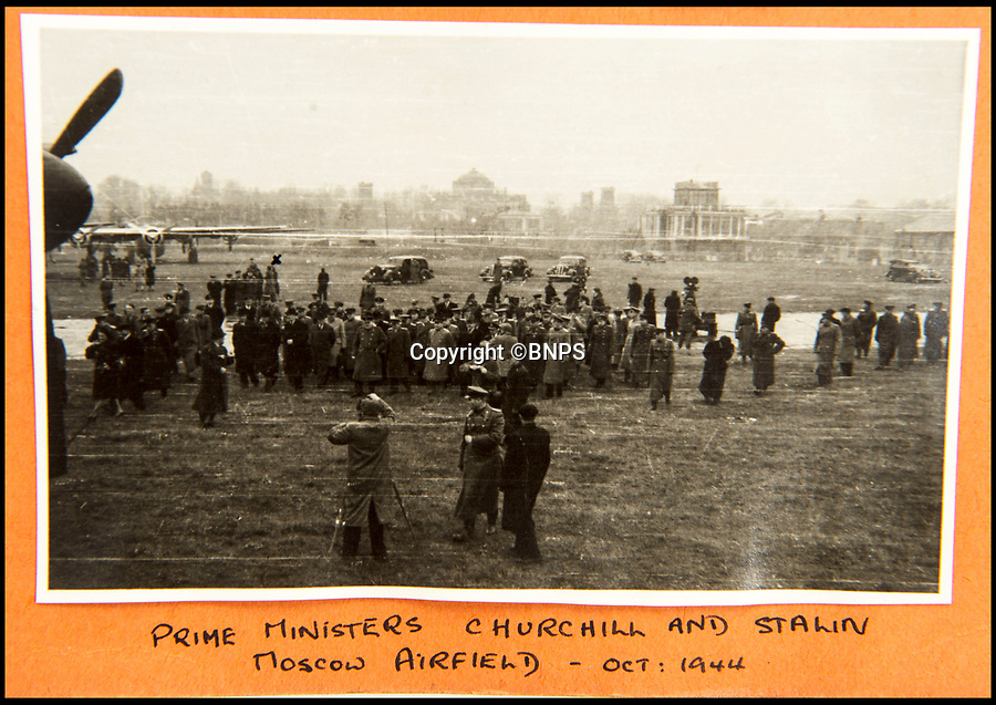 BNPS.co.uk (01202 558833)<br /> Pic: C&amp;T/BNPS<br /> <br /> Brenda's snap of Stalin seeing Churchill off from Moscow in October 1944.<br /> <br /> A humble secretary's remarkable first hand archive of some of the most momentous events of WW2 has come to light.<br /> <br /> 'Miss Brenda Hart' worked in the Cabinet Office during the last two years of the war, travelling across the globe with the Allied leaders as the conflict drew to a close.<br /> <br /> Her unique collection of photographs and momentoes of Churchill, Stalin and other prominent Second World War figures have been unearthed after more than 70 years.<br /> <br /> The scrapbooks, which also feature Lord Mountbatten and Vyacheslav Molotov, were collated by Brenda Hart who, in her role as secretary to Churchill's chief of staff General Hastings Ismay, enjoyed incredible access to him and other world leaders.<br /> <br /> She also wrote a series of letters which give fascinating insights, including watching Churchill and Stalin shaking hands at the Bolshoi ballet in 1944, being behind Churchill as he walked out on to the balcony at the Ministry of Health to to wave to some 50,000 Londoners on VE day and even visiting Hitler's bombed out Reich Chancellery at the end of the war.<br /> <br /> This unique first hand account, captured in a collection of photos, passes, documents and letters are being sold at C&amp;T auctioneers on15th March with a &pound;1200 estimate.