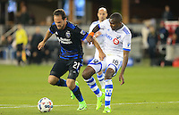 San Jose, CA - Saturday, March 04, 2017: Marco Ureña, Chris Duvall prior to a Major League Soccer (MLS) match between the San Jose Earthquakes and the Montreal Impact at Avaya Stadium.
