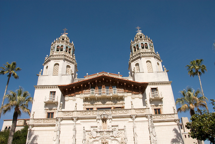 California, San Luis Obispo County: Hearst Castle State Park, formerly the palatial hillside home of publisher William Randoph Hearst..Photo caluis200-70948..Photo copyright Lee Foster, www.fostertravel.com, 510-549-2202, lee@fostertravel.com