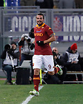 Calcio, Serie A: Roma vs Fiorentina. Roma, stadio Olimpico, 8 dicembre 2012..AS Roma forward Pablo Daniel Osvaldo celebrates after scoring during the Italian Serie A football match between AS Roma and Fiorentina at Rome's Olympic stadium, 8 december 2012..UPDATE IMAGES PRESS/Isabella Bonotto