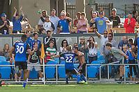 San Jose, CA - Sunday, September 27, 2015: The San Jose Earthquakes defeated Real Salt Lake 1-0 at Avaya Stadium.