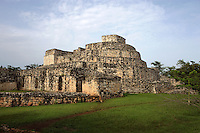 Structure 15, called the Oval Palace, Ek Balam (?Black Jaguar? in Maya), flourished during the Late Classic period between 700 and 1200 AD, Yucatan, Mexico. Picture by Manuel Cohen