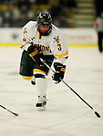 30 December 2007: University of Vermont Catamounts' forward Peter Lenes, a Junior from Shelburne, VT, in action against the Quinnipiac University Bobcats at Gutterson Fieldhouse in Burlington, Vermont. The Bobcats defeated the Catamounts 4-1 to win the Sheraton/TD Banknorth Catamount Cup Tournament...Mandatory Photo Credit: Ed Wolfstein Photo