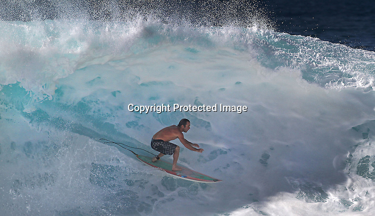 Northshore beach Pipeline had 20 foot face waves over the holiday weekend.