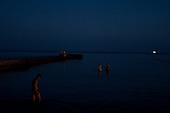 Odessa, Ukraine<br /> August 27, 2005 <br /> <br /> Odessa's &quot;Arcadia&quot; beach at dusk.
