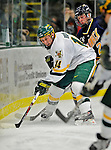 16 February 2008: University of Vermont Catamounts' forward Brian Roloff, a Sophomore from West Seneca, NY, in action against the Merrimack College Warriors at Gutterson Fieldhouse in Burlington, Vermont. The Catamounts defeated the Warriors 2-1 for their second win of the 2-game weekend series...Mandatory Photo Credit: Ed Wolfstein Photo