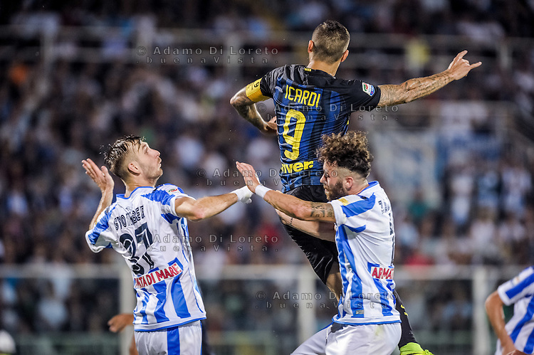 Mauro Icardi (Inter) during the Italian Serie A football match Pescara vs SSC Inter on September 11, 2016, in Pescara, Italy. Photo by Adamo DI LORETO