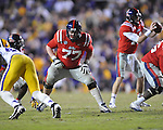Ole Miss offensive lineman Patrick Junen (77) vs. LSU at Tiger Stadium in Baton Rouge, La. on Saturday, November 17, 2012. LSU won 41-35.....