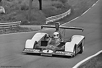 Brian Redman drives the 1977 Lola Chevrolet Can-Am car at Le Circuit Mont Tremblant/St. Jovite, Quebec, Canada.