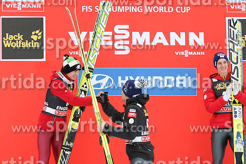 15.12.2012, Gross Titlis Schanze, Engelberg, SUI, FIS Ski Sprung Weltcup, Herren, im Bild KAMIL STOCH ANDREAS KOFLER // during mens FIS Ski Jumping world cup at the Gross Titlis Hill, Engelberg, Switzerland on 2012/12/15. EXPA Pictures © 2012, PhotoCredit: EXPA/ Newspix/ Tadeusz Mieczynski..***** ATTENTION - for AUT, SLO, CRO, SRB, BIH, TUR, SUI and SWE only *****