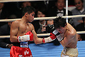 (L to R) Thepparith Kokietgym (THA), Daiki Kameda (JPN), December 7, 2011 - Boxing : Daiki Kameda of Japan and Thepparith Kokietgym of Thai during the WBA Supwer-Flyweight Title bout at Osaka Prefectural Gymnasium in Osaka, Japan. (Photo by Akihiro Sugimoto/AFLO SPORT) [1080]