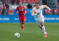 20 April 2013: Houston Dynamo midfielder Ricardo Clark #13 in action during an MLS game between the Houston Dynamo and Toronto FC at BMO Field in Toronto, Ontario Canada..The game ended in a 1-1 draw...
