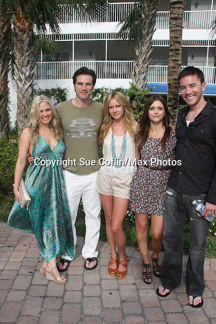 As The World Turns' Terri Colombino - Austin Peck - Meredith Hagner - Alex Chando - Austin Peck at the 12th Annual SWFL SoapFest - A Night of the Stars to benefit Marco Island YMCA, theatre program & Art League of Marco Island on May 15, 2010  at Bistro Soleil at the historic at the Olde Marco Inn, Marco Island, FLA. (Photo by Sue Coflin/Max Photos)